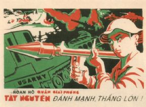 Vintage Vietnam Propaganda Poster, Defeat the US Army.